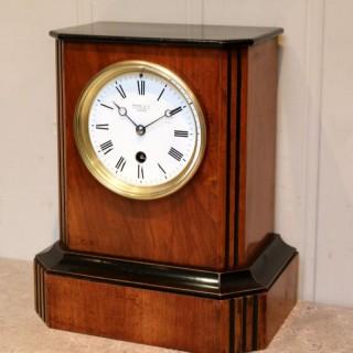 Walnut Timepiece Mantel Clock