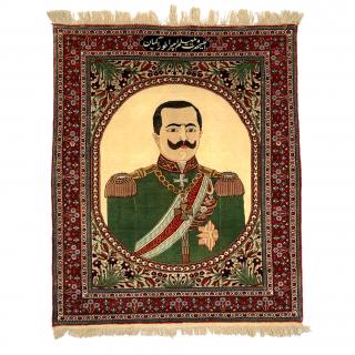 MOHTASHAM KASHAN RUG, PORTRAIT OF KAISER WILHELM II