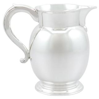 Sterling Sterling Silver Milk/Water Jug - Antique George V (1910)