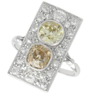 3.24ct Diamond and Platinum Dress Ring - Antique French Circa 1910