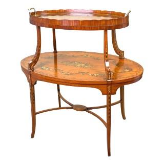 Fine 19th Century Satinwood Etagere