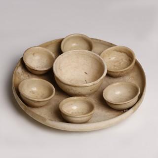 Tang Yue-Ware Monochrome Glazed Ceramic Tea Set