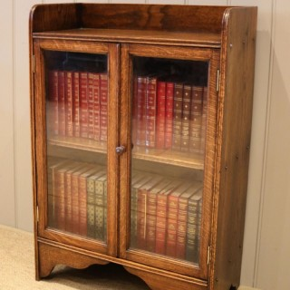 Small Proportioned Oak Glazed Bookcase