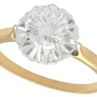 1.18ct Diamond and 18ct Yellow Gold Solitaire Ring - Antique Circa 1930