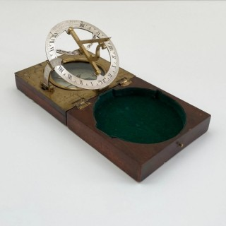 George III Pocket Inclining Sundial by Thomas Rubergall of London