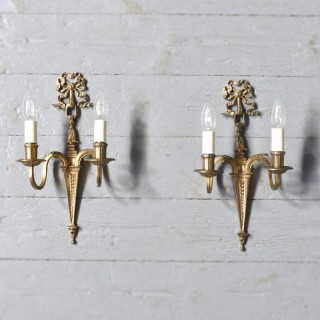 Pair of Adam Style Wall Sconces.