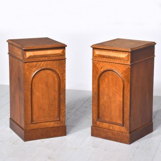 Pair of Victorian Mahogany Bedside Cabinets.