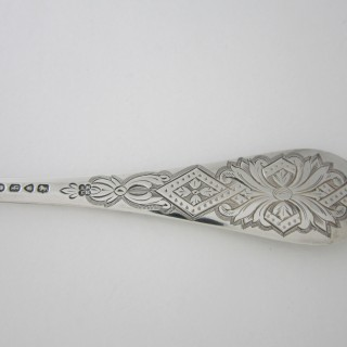 Antique Victorian Sterling Silver Berry Spoons - 1871