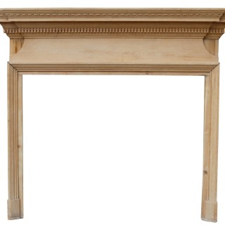 A Reclaimed Victorian Style Wooden Fireplace