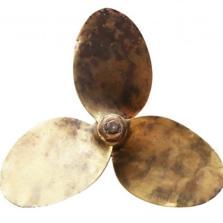 A Salvaged Bronze Boat Propeller 21
