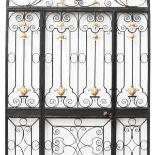 A Reclaimed Glazed Wrought Iron Entrance-way
