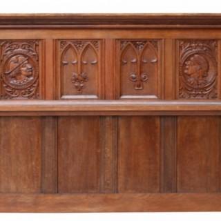 An Antique Jacobean Revival Carved Oak Panel