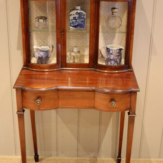Pretty Mahogany Table Display Cabinet