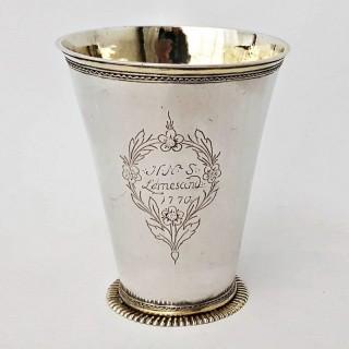 9901 Antique Silver Scandinavian Peg Beaker