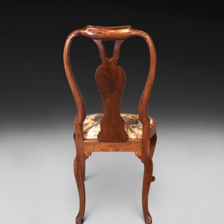 Set of 6 Queen Anne Burr Walnut Chairs