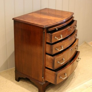 Mahogany Bow Front Chest Of Drawers