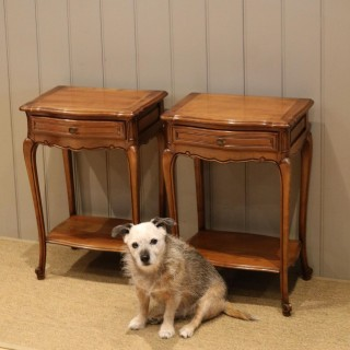 Pair Of French Cherry Wood Tables