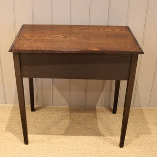 Early 19th Century Carved Oak Lowboy