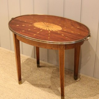 Low Inlaid Oval Table
