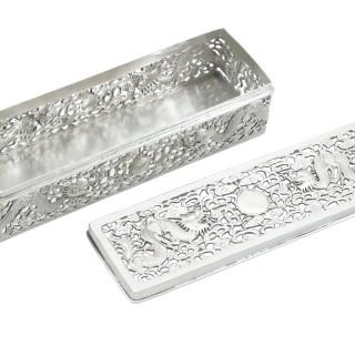 Chinese Export Silver Box - Antique Circa 1900