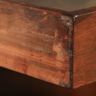 "Antique English Victorian 3ft 10"" Mahogany & Leather Pedestal Office Desk (Circa 1870)"