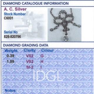 1.48ct Diamond and 12ct Yellow Gold Pendant - Antique Circa 1900