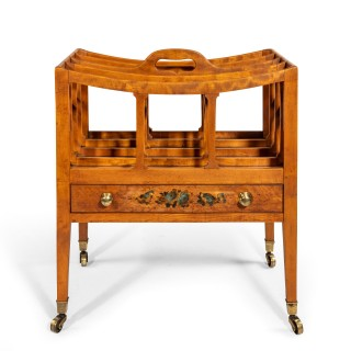 A George III satinwood four division Canterbury
