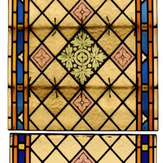 A Reclaimed Stained Glass Church Window