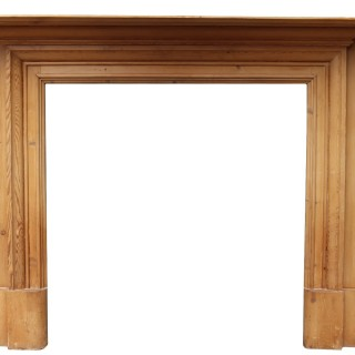 A Reclaimed Antique Pine Fire Surround