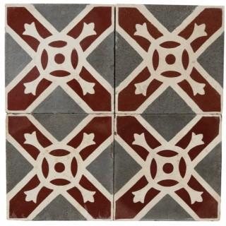 Reclaimed Patterned Encaustic Floor Tiles 6.1 m2 (65 sq ft)