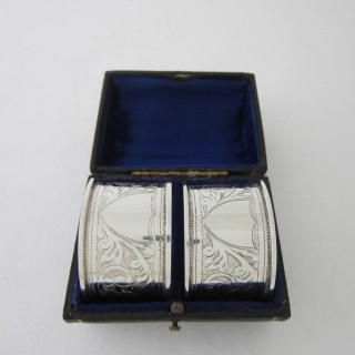 Antique Sterling Silver Napkin Rings -1914