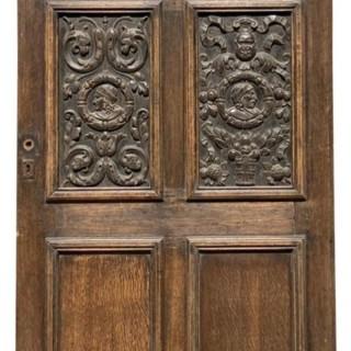 A Reclaimed English Jacobean Style Oak Door