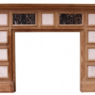 A Reclaimed Oak Fire Surround Inset with Marble Panels