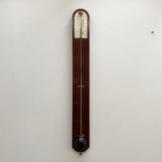Late Eighteenth Century Mahogany Stick Barometer by Gilbert London