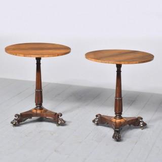 Pair of George IV Circular Rosewood Occasional Tables.