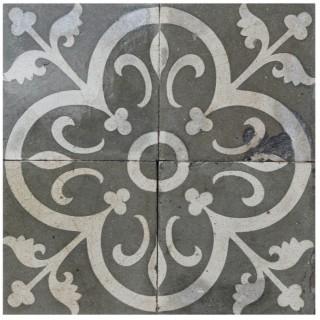 Reclaimed Patterned Encaustic Floor Tiles 5.64  m2 (60 sq ft)