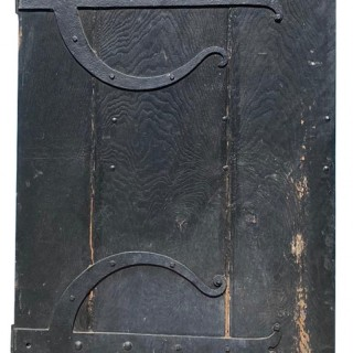 A Reclaimed English Gothic Style Oak Exterior Door