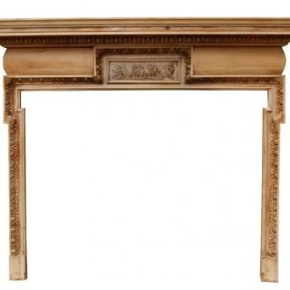 A Reclaimed Georgian Style Pine Fire Surround