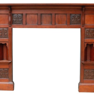 An Arts and Crafts Style Reclaimed Walnut Fire Surround