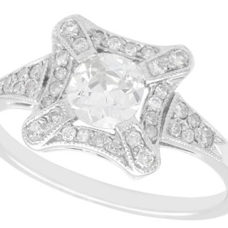1.06ct Diamond and Platinum Cluster Ring - Antique and Contemporary