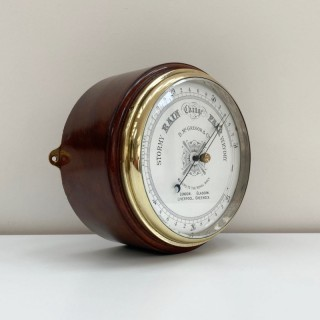 Large Late Victorian Drumhead Aneroid Barometer by D. McGregor & Co