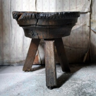 A 15thC & Later Primitive French Oak Capital