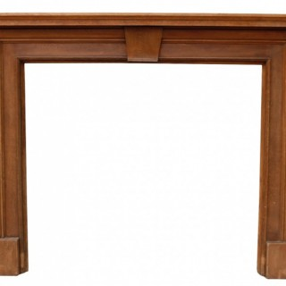 A Reclaimed Edwardian Style Wooden Fire Surround