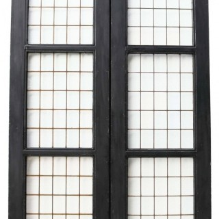 A Set of Reclaimed Copper Light Double Doors (13 sets available)