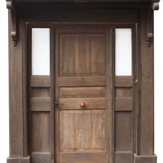 A Reclaimed Antique Oak Entranceway