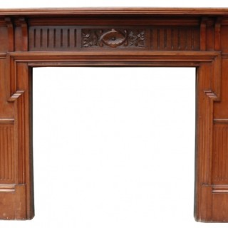 A Reclaimed Victorian Style Walnut Fire Surround
