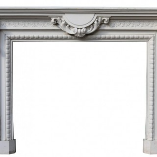 Antique Carved Oak Fire Surround by GUERET FRERES
