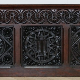 An Antique Reclaimed Carved Oak Panel