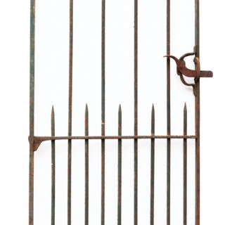 A Reclaimed Scroll-Top Wrought Iron Side Gate