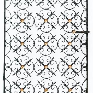 A Decorative Reclaimed Wrought Iron Pedestrian Gate